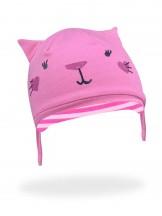 Czapka kotek różowa