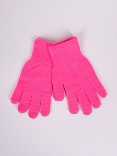 Rękawiczki dziane amarantowe
