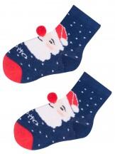 Skarpety świąteczne z Mikołajem