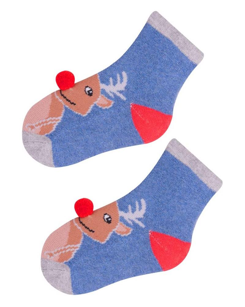 Skarpety świąteczne z reniferem