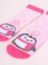 Skarpety świąteczne z pingwinem