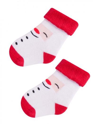 Skarpety świąteczne wesoły Mikołaj