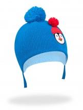 Czapka zimowa z pingwinem niebieska