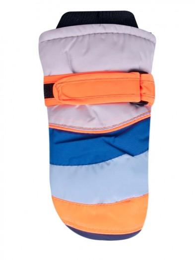 Rękawiczki narciarskie niebiesko-pomarańczowe