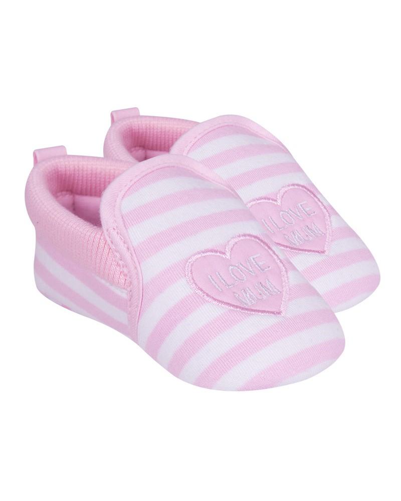 Buciki I love Mum różowe