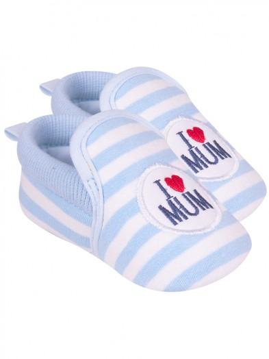 Buciki I love Mum błękitne