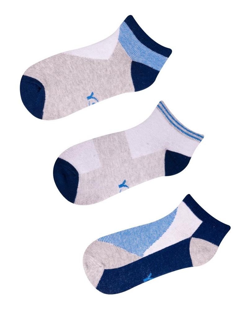 Stopki 3pak szaro-niebieskie