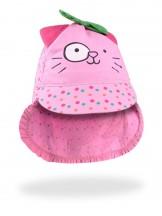 Czapka letnia różowa  Pink Cat