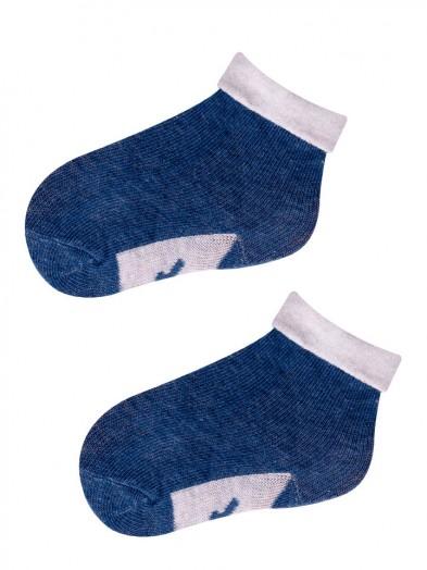 Skarpetki dla niemowlaka Niebieski z jasnoszarym wywinięciem