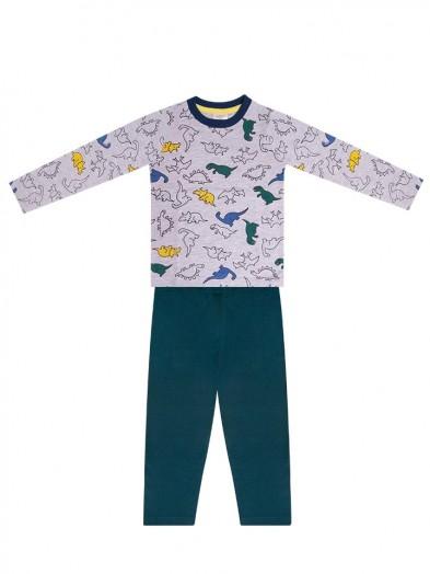 Piżama chłopięca kolorowe dinozaury