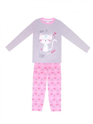 Piżama dziewczęca Śpiący Kotek