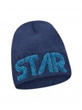 Czapka zimowa granatowa z napisem STAR