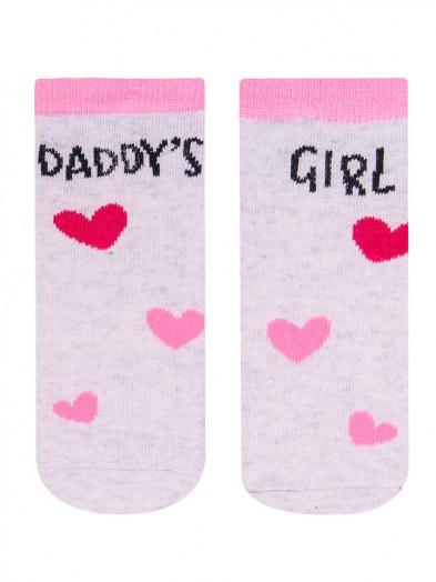 Skarpety z napisem Daddys girl r. 17-19