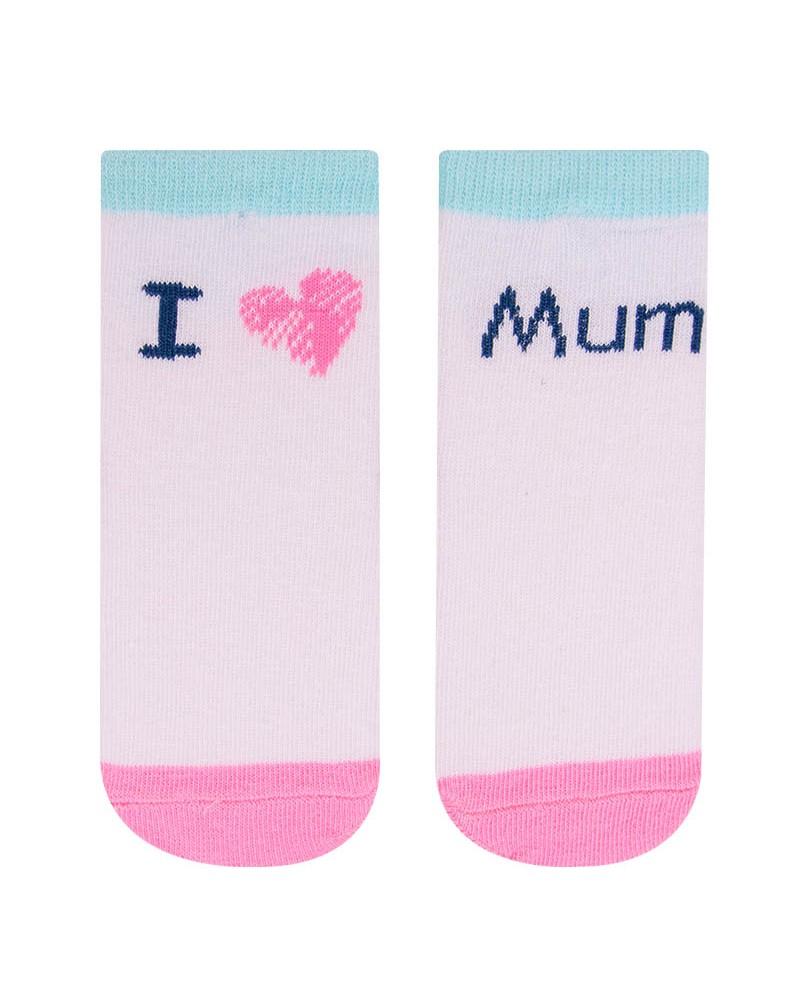 Skarpety z napisem I love Mum