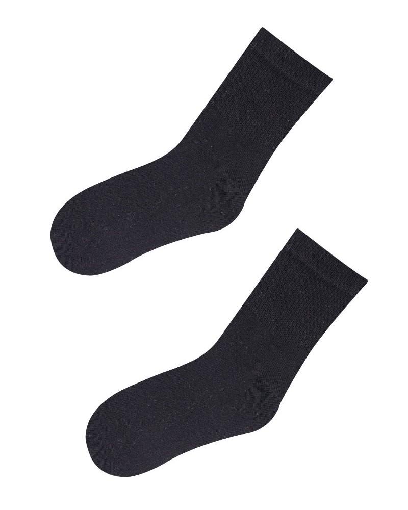 Skarpety bawełniane bezuciskowe czarne