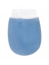 Rękawiczki polarowe łapka wiązane błękitne