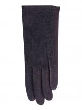 Rękawiczki damskie czarne błyszczące