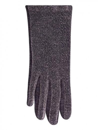 Rękawiczki damskie srebrne błyszczące
