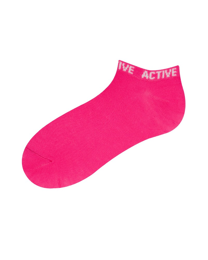 Skarpety sportowe fluo różowe ciemne