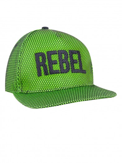 Czapka z daszkiem chłopięca Rebel zielona