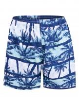 Szorty plażowe męskie seledynowe hawajskie palmy