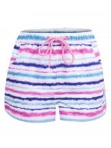 Szorty plażowe damskie tie dye fiolet i seledyn