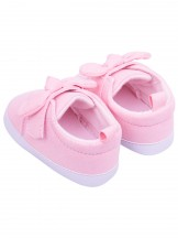 Buciki dziewczęce brokatowe z kokardką różowe