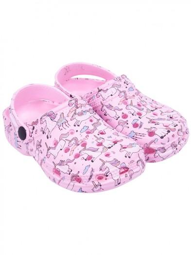 Buty ogrodowe dziewczęce różowe unicorn