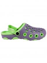 Buty ogrodowe chłopięce granatowo-zielone z autkiem