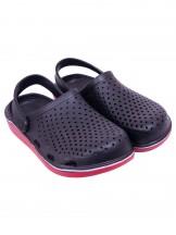 Buty męskie ogrodowe gładkie czarne