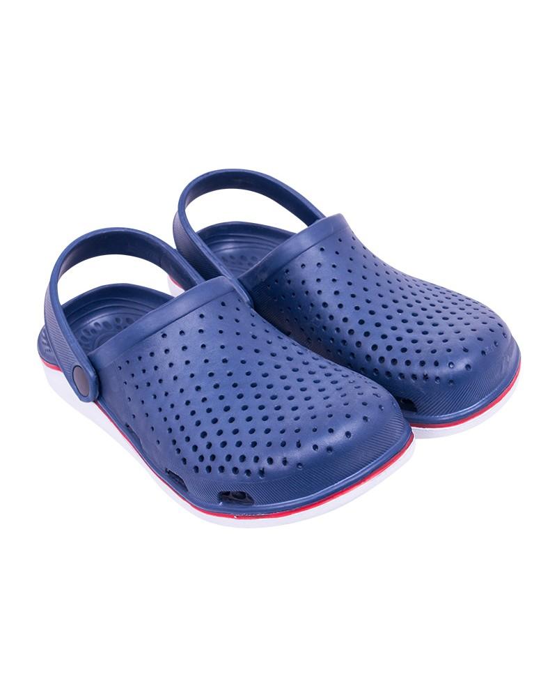 Buty męskie ogrodowe gładkie granatowe