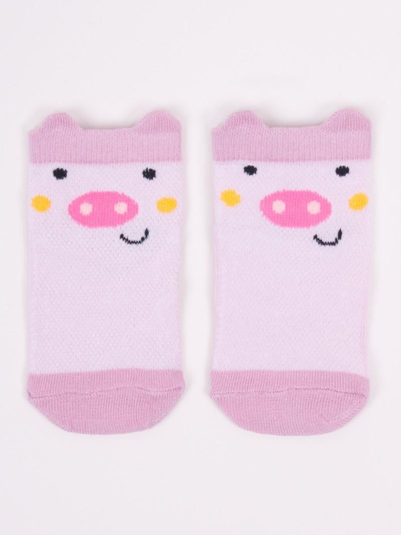 Stopki ażurowe dziewczęce różowa świnka