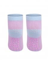 Skarpety stopki antypoślizgowe dziewczęce różowe ze śpiącymi oczkami