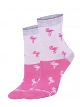 Skarpety dziewczęce we flamingi