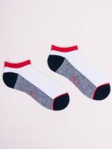 Skarpetki stopki 3pak z czerwonym akcentem