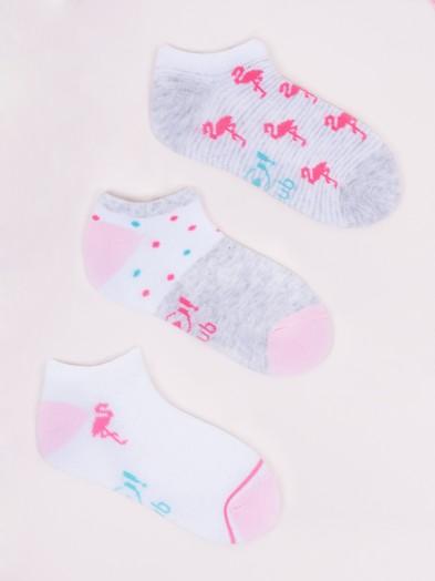 Skarpetki stopki dziecięce 3pak flamingi