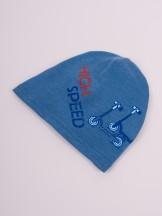 Czapka przejściowa bawełniana chłopięca niebieska high speed r. 50-52