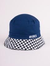 Czapka letnia kapelusz granatowa z szachownicą VIBES