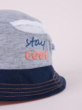 Czapka letnia kapelusz szara z siateczką stay cool