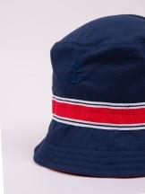 Czapka letnia kapelusz granatowa z kotwicą