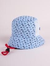 Czapka letnia kapelusz błękitna z siateczką w łodzie podwodne