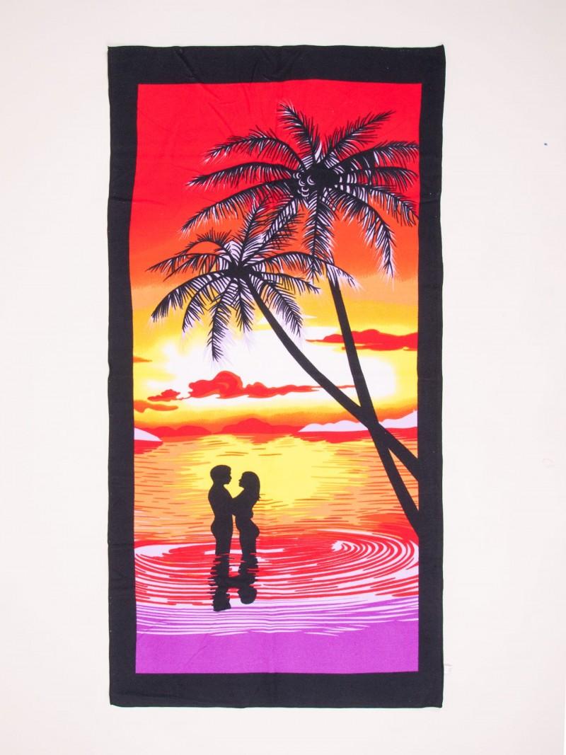 Ręcznik plażowy prostokątny zachód słońca