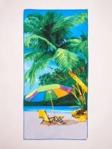Ręcznik plażowy prostokątny palmy i leżak