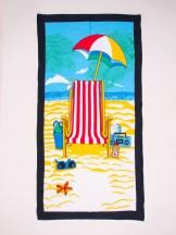 Ręcznik plażowy prostokątny leżak i parasol