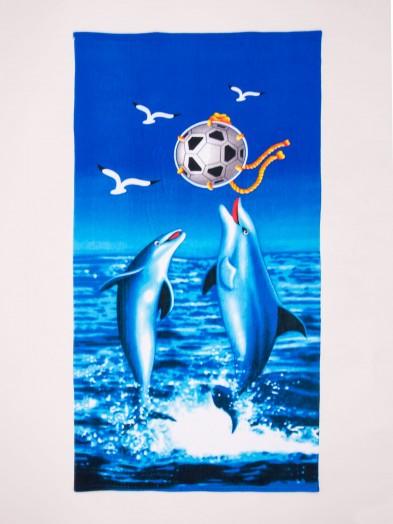 Ręcznik plażowy prostokątny delfiny