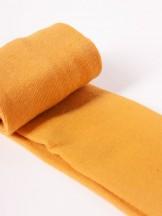 Rajstopy dziewczęce bawełniane gładkie musztardowe