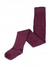 Rajstopy dziewczęce bawełniane gładkie burgundowe r. 116-122