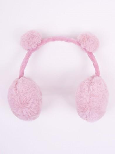 Nauszniki z uszami różowe r. uniwersalny