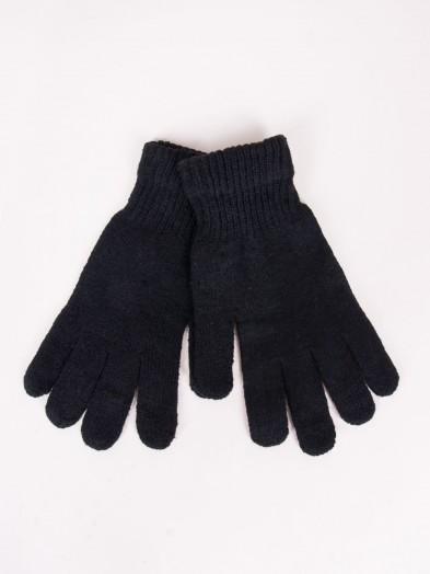 Rękawiczki męskie czarne klasyczne wełniane