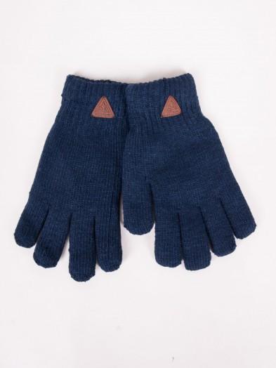 Rękawiczki chłopięce granatowe ocieplane z wełną